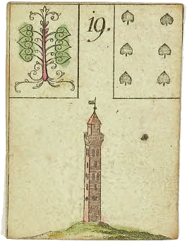 Lenormand card Tower
